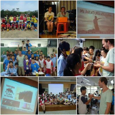 Taiwan a dedo: Tainan, histórica y encantadora. Dando charlas en una escuela. ¡Inolvidable!