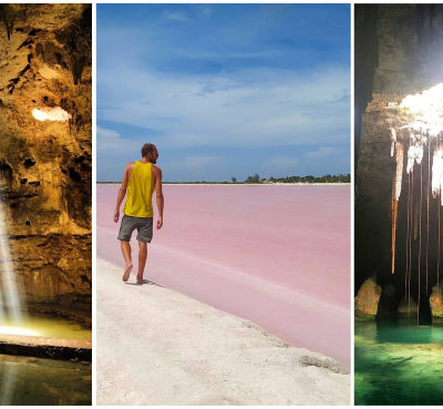 Las Coloradas y varios Cenotes espectaculares de México